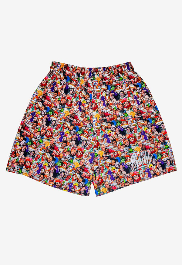 Art World Game Athletic Shorts for Men