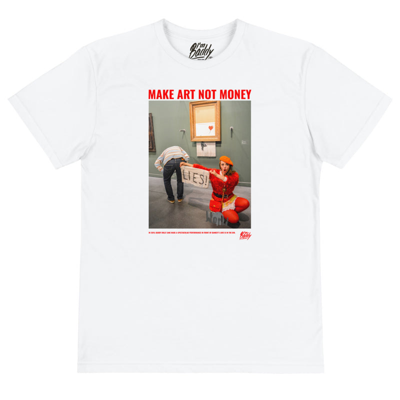 Banksy Make Art Not Money t-shirt