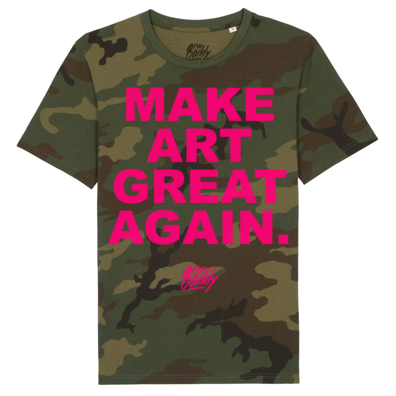 Make Art Great Again camouflage t-shirt