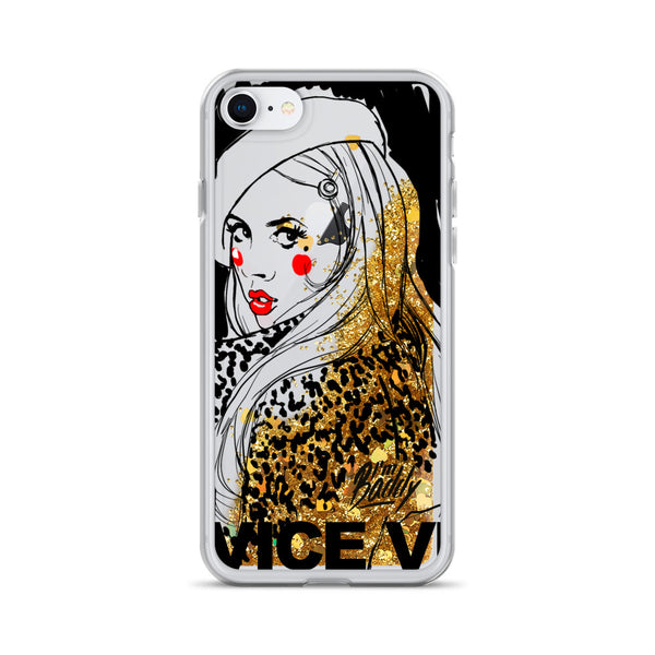 Vice Versa Gold Glitter Phone Case