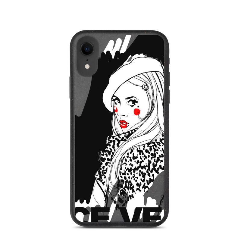 Biodegradable phone case with Vice Versa print