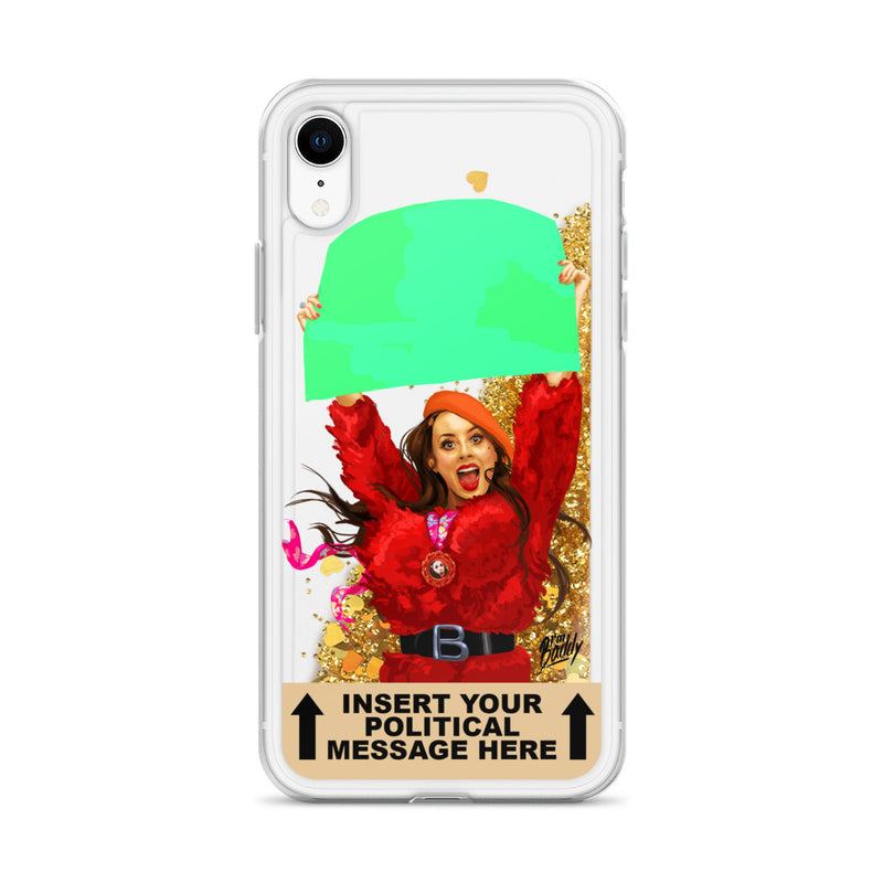 Insert Your Message Here Liquid Glitter Phone Case