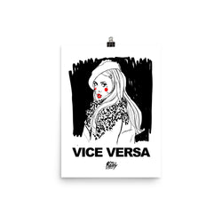 Monochrome Poster with Vice Versa print