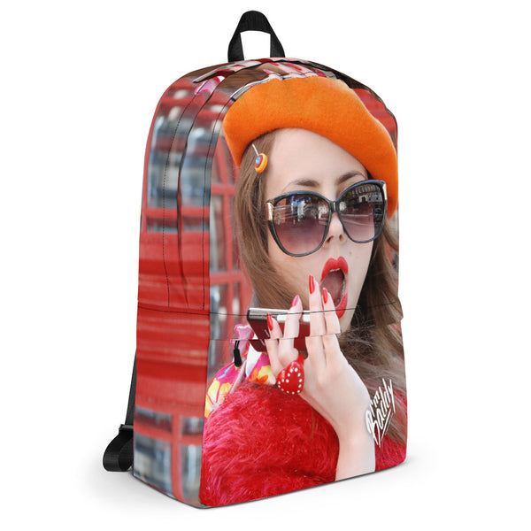 Baddy Was in London Backpack (red)