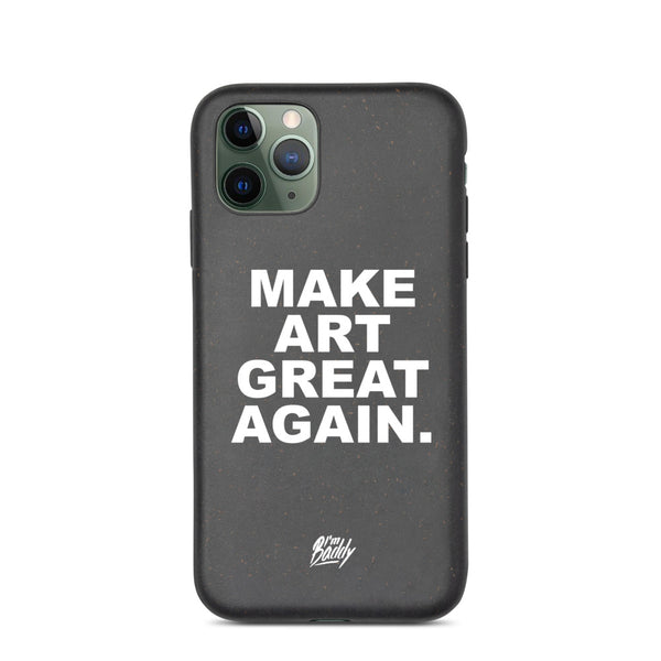 Biodegradable phone case with MAGA slogan