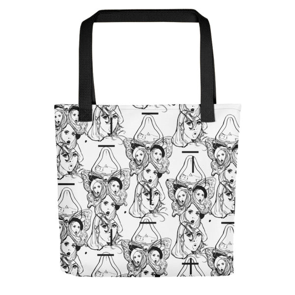 Black Fountain Tote Bag