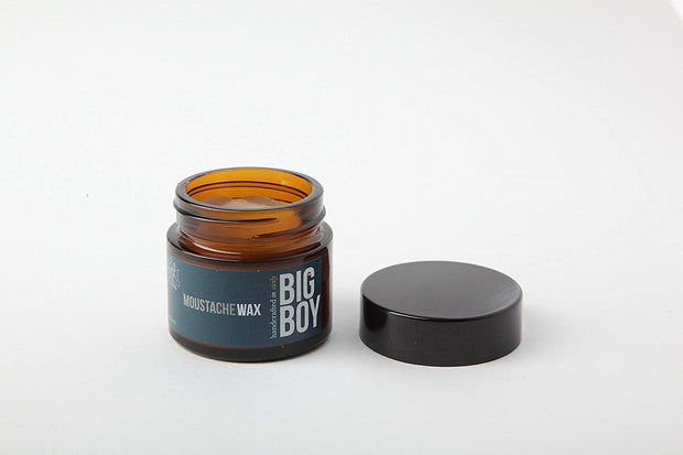 BIG BOY Moustache Wax 25ml - Made in Italy - Bees Wax, Almond Oil, Shea Butter