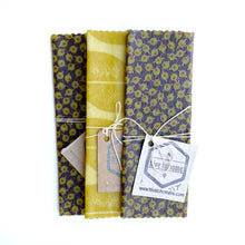 "7"" x 7"" square beeswax wrap"