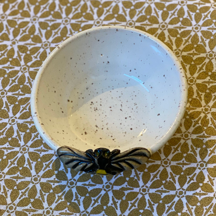 Nesting Bee Bowl from Kissed by Fire Pottery