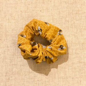 Large Bee Themed Scrunchie