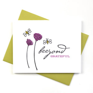 Beeyond Grateful Bee Card