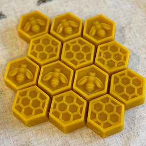 Beeswax Hexagon Pucks