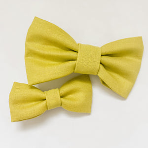 Lime Green Classic Bow