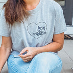 """Love Your Neighbor"" Adult Cropped Tee"