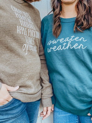 """Sweater Weather"" Adult Sweatshirt"