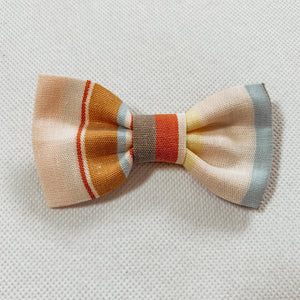Summer Stripe Linen Classic Bow