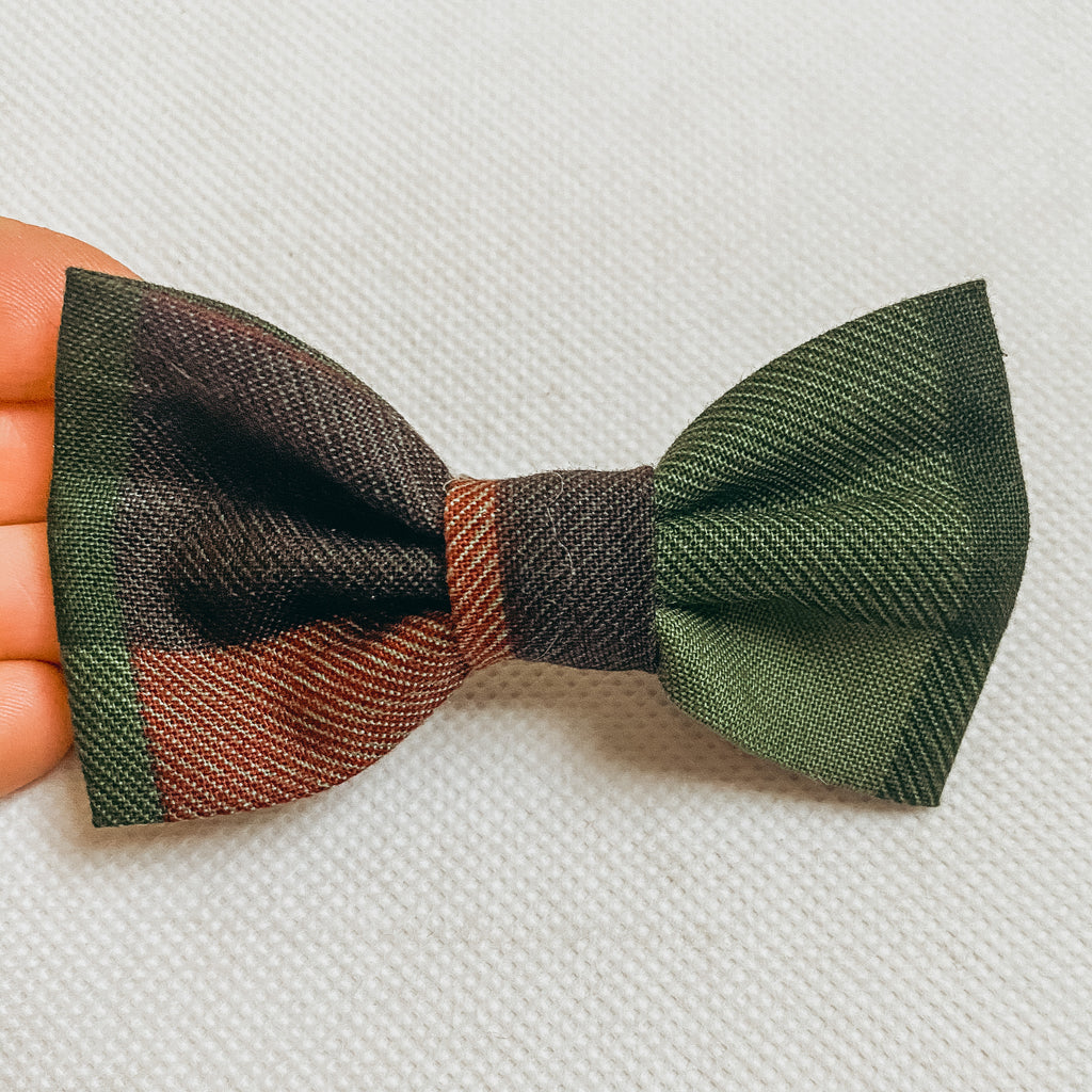 Christmas Buffalo Check Cotton Classic Bow