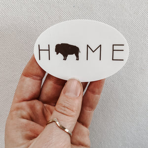 """Buffalo Home"" Sticker"