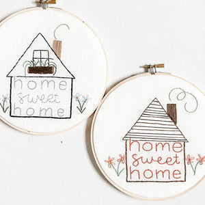 """Home Sweet Home"" Embroidery Hoop"