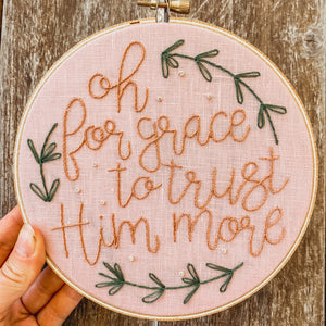 """Tis' So Sweet"" Embroidery Hoop"
