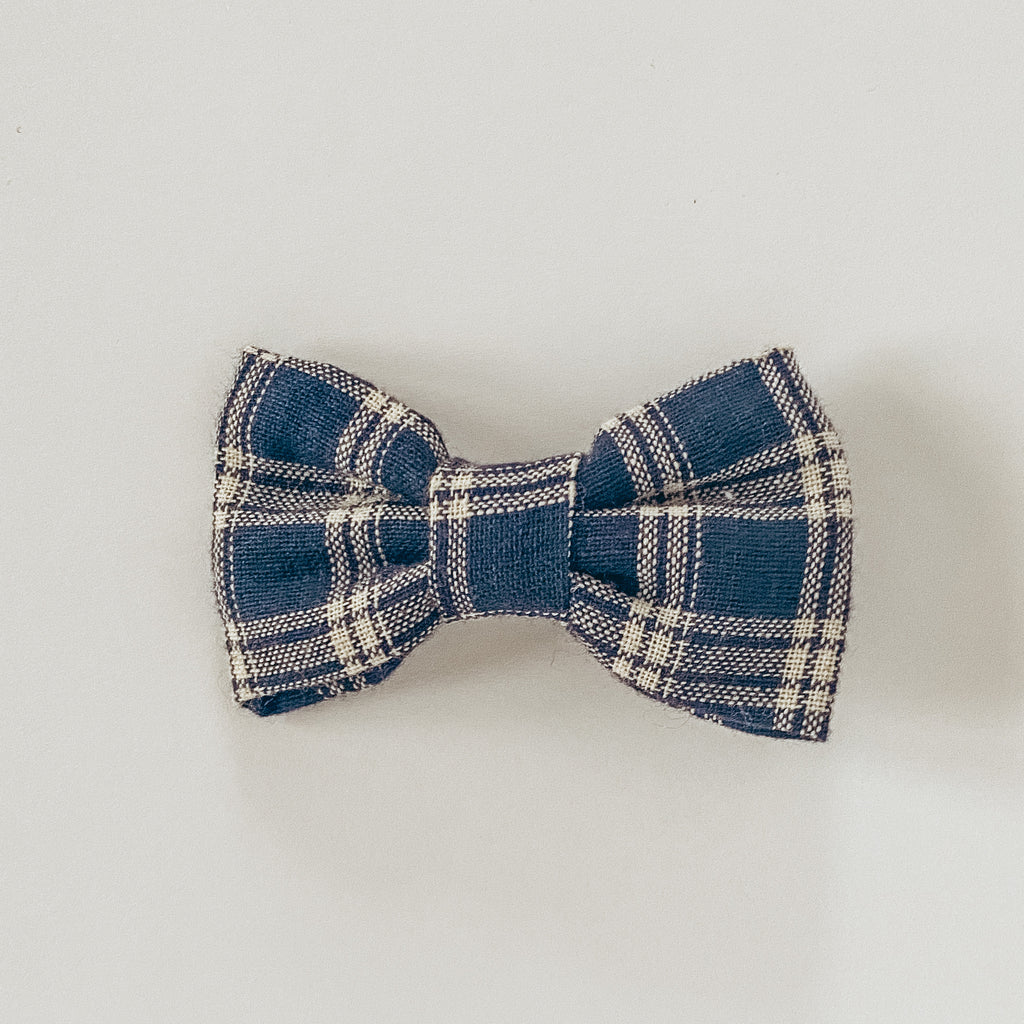 Navy Flannel Classic Bow
