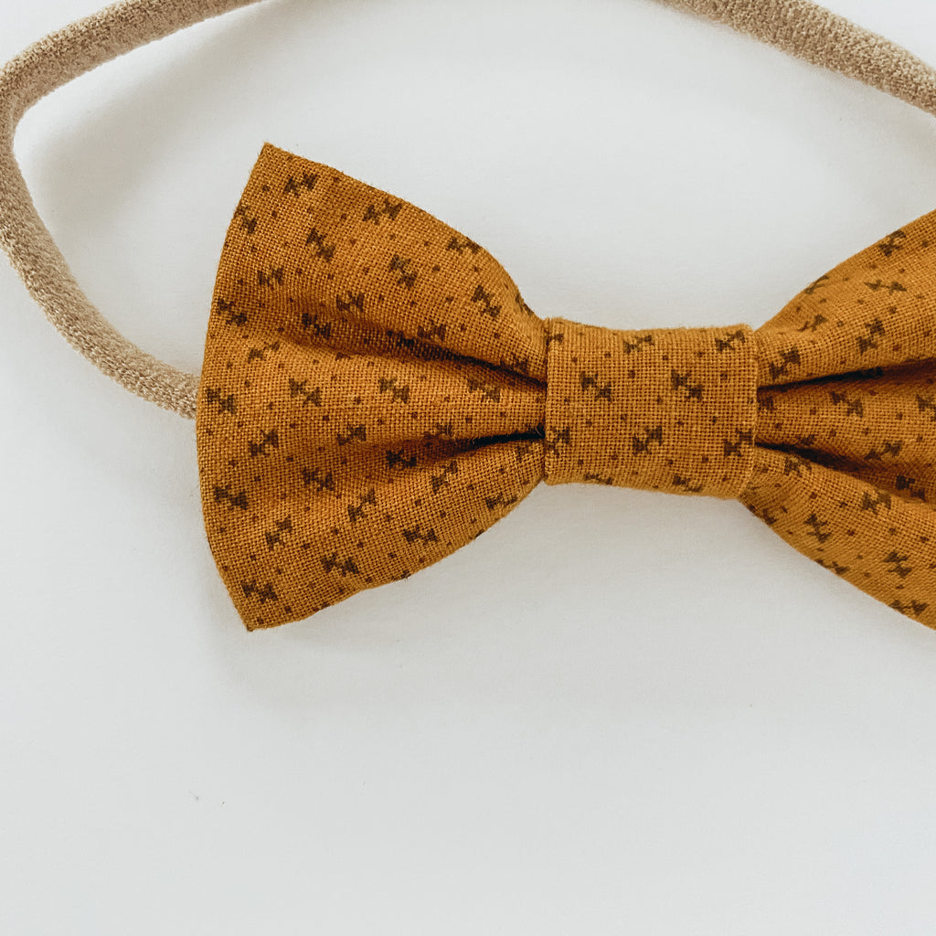 Brown Arrow Cotton Classic Bow