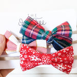 """Holiday"" Bow Set"