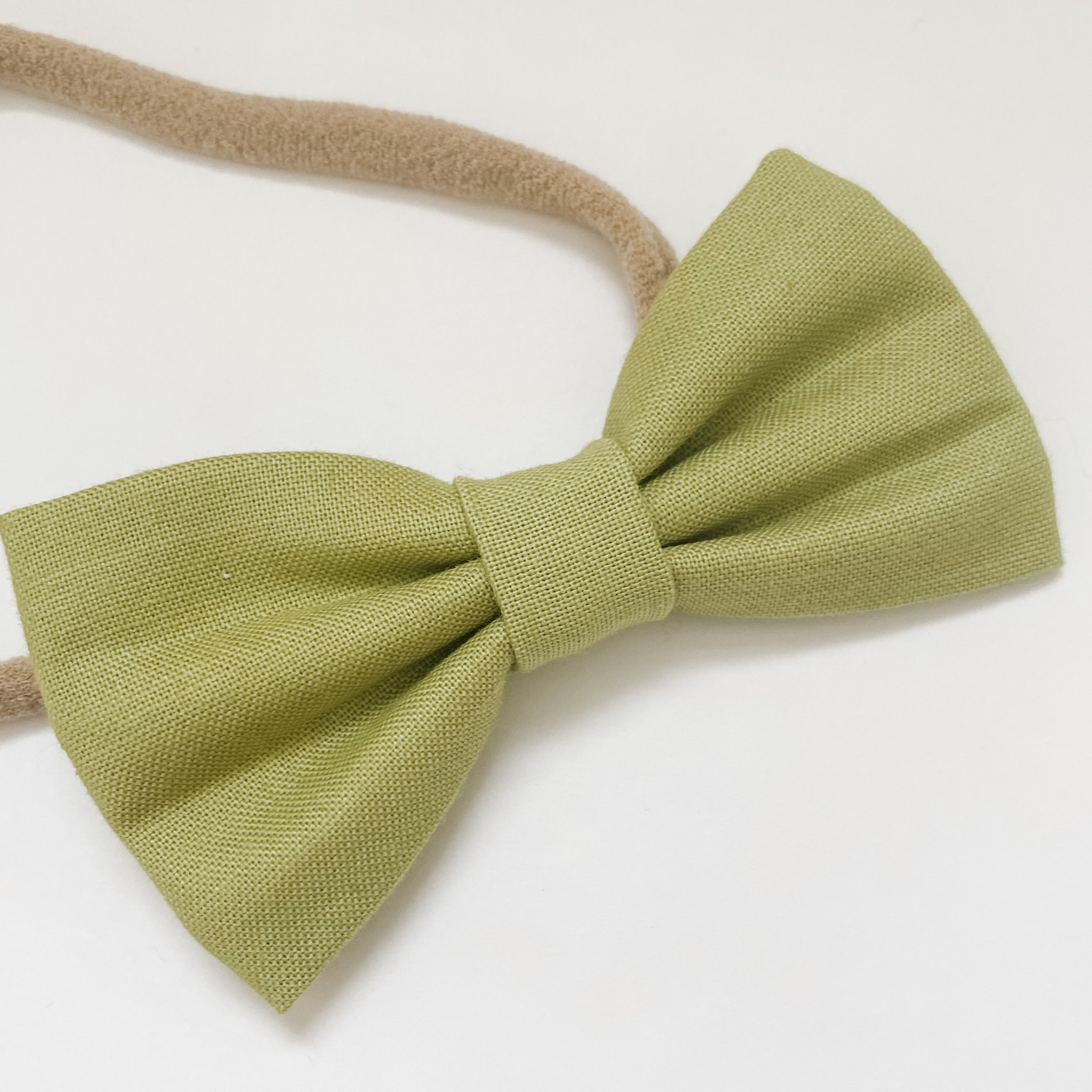 Sage Green Cotton Classic Bow