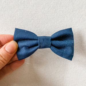 Navy Cotton Classic Bow