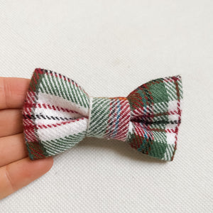 Christmas Flannel Classic Bow