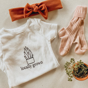 """Locally Grown"" Onesie"