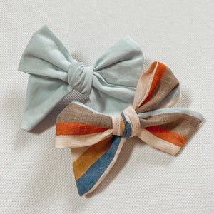 Powder Blue Schoolgirl Bow