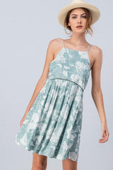 Buy Floral Print Empire Halter Summer Dress Mint online at Southern Fashion Boutique Bliss