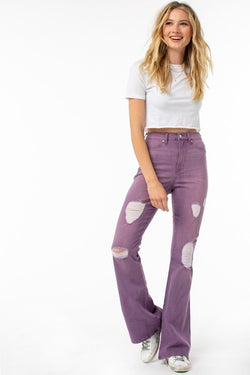 Buy Purple Stretch Denim Flair Jeans Star Fish online at Southern Fashion Boutique Bliss