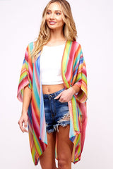 Buy Rainbow Kimono Cardigan Multi-Color online at Southern Fashion Boutique Bliss