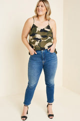 Buy Camouflage V-Neck Cami Camo online at Southern Fashion Boutique Bliss