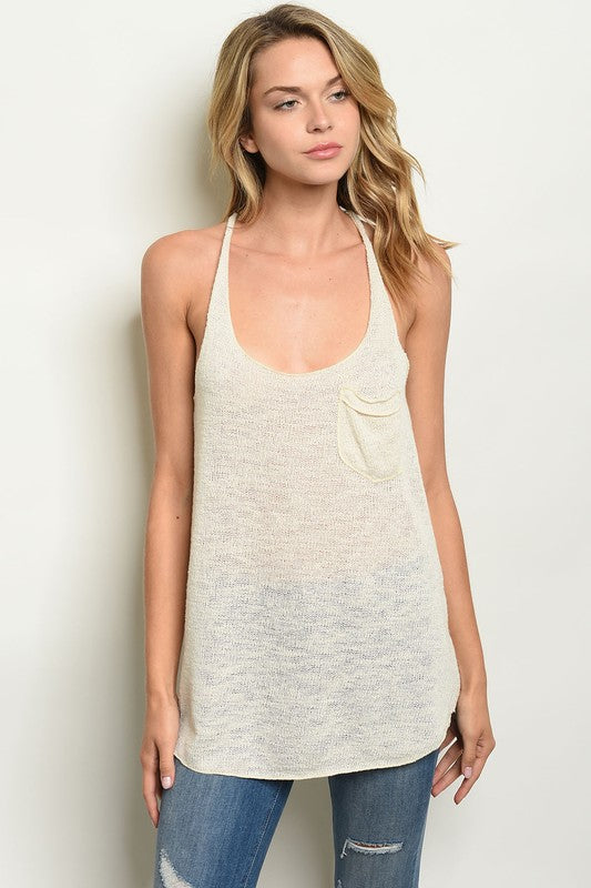 Buy Pocket Detail Knitted Tank Top Lavender online at Southern Fashion Boutique Bliss