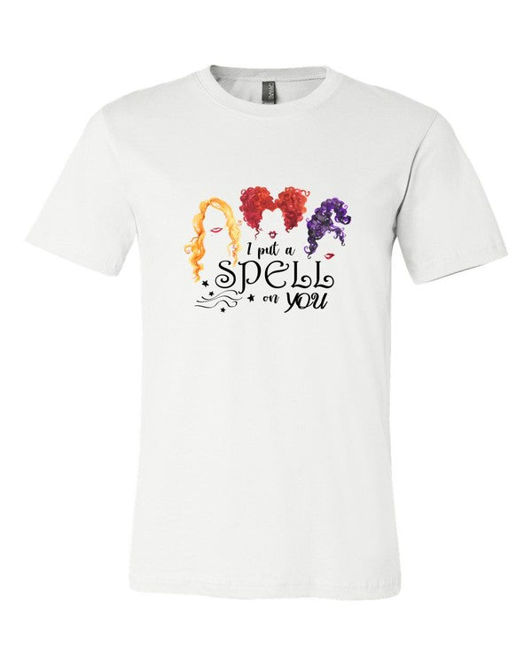 Buy Hocus Pocus Softsytle Tee Top White online at Southern Fashion Boutique Bliss