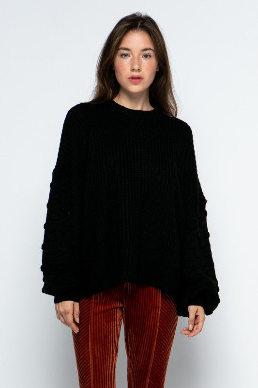 Buy Loose Fit 3D Bubble Sleeve Sweater Black online at Southern Fashion Boutique Bliss
