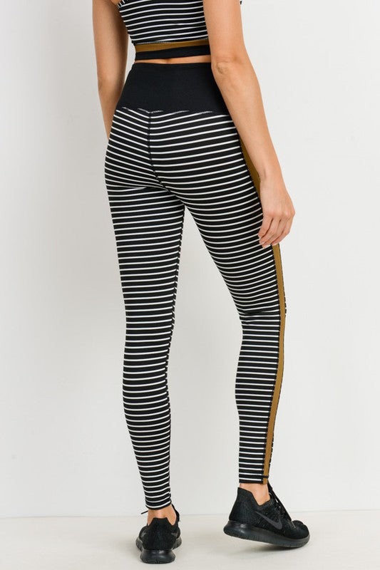 Buy Striped High Waist Leggings Black online at Southern Fashion Boutique Bliss