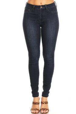 High Rise Skinny Jeans Denim Indigo