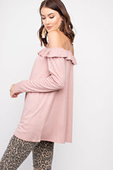 Buy Long Sleeve Lace Up Front & Back Tunic Mauve online at Southern Fashion Boutique Bliss