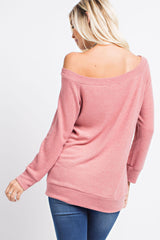 Buy Hacci Brushed Off Shoulder Top Pink online at Southern Fashion Boutique Bliss