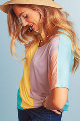Buy Multi Color Block Dolman Knit Top Multi online at Southern Fashion Boutique Bliss