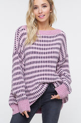 Buy Chenille Mosaic Pullover Sweater Blush online at Southern Fashion Boutique Bliss