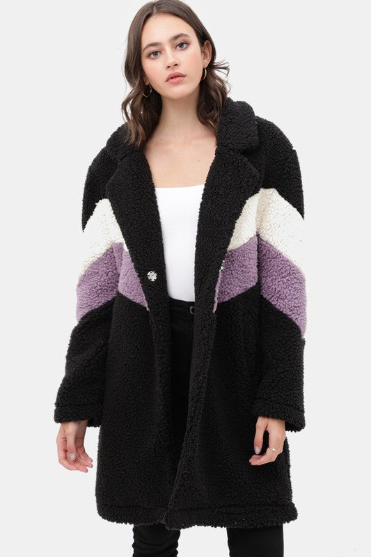 Buy Teddy Bear Faux Fur Coat Black online at Southern Fashion Boutique Bliss