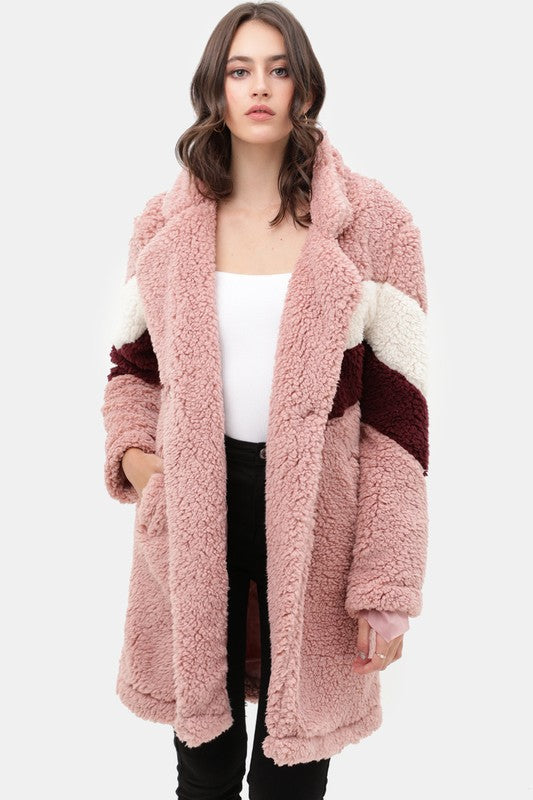 Buy Teddy Bear Faux Fur Coat Mauve online at Southern Fashion Boutique Bliss