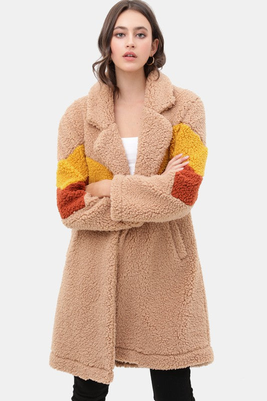 Buy Teddy Bear Faux Fur Coat Camel online at Southern Fashion Boutique Bliss
