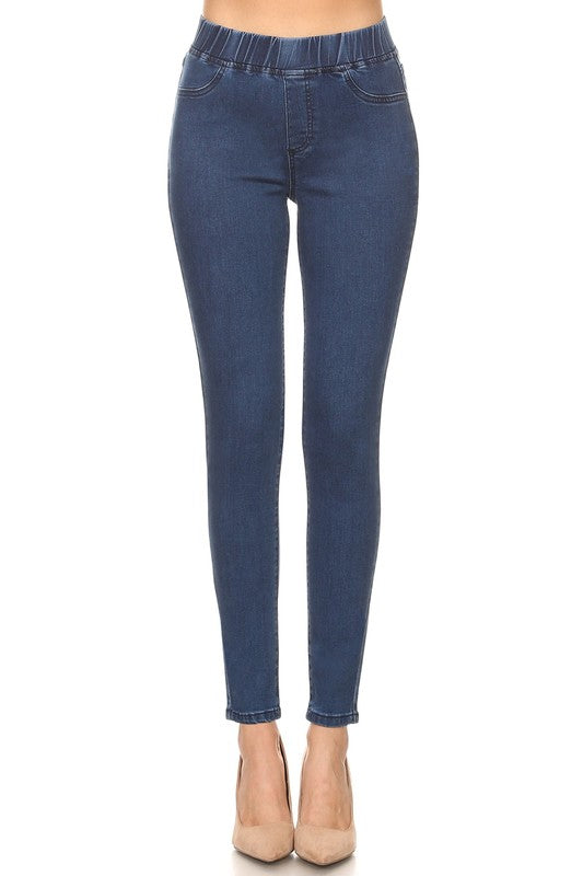 Buy Pull Up Skinny Jeans Medium Wash Denim online at Southern Fashion Boutique Bliss