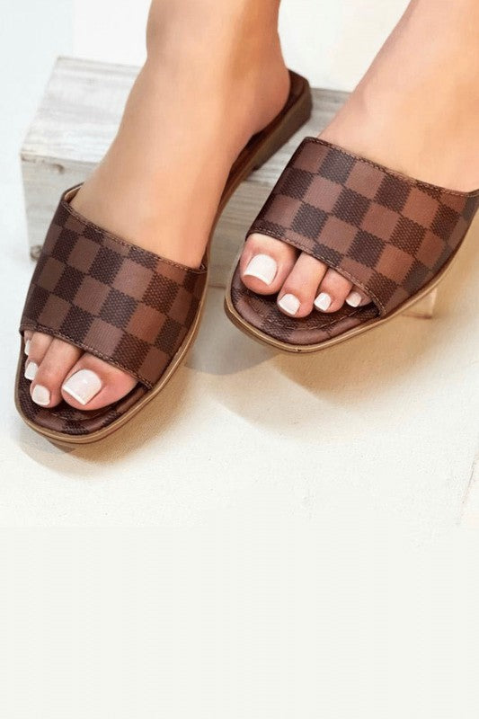 Designer Inspired Sandals Brown